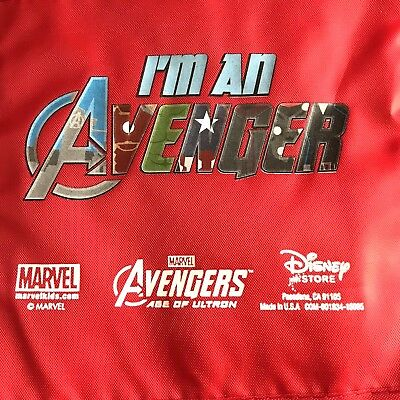 Disney Store Marvel Avengers Lunch Tote Bag Red Top Handle Age of Ultron
