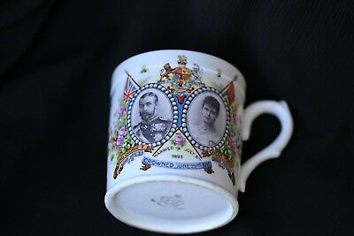 Coronation ware king george V and Queen Mary cup 1911
