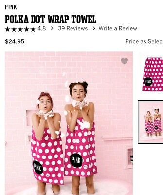 Vs pink body wrap Towel