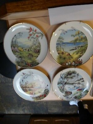 THE FOUR SEASONS OF AUSTRALIA.Complete set of 4 collector plates .1982.