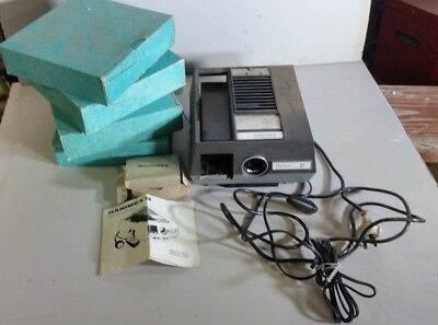 Hanimex rondette 1200A slide projector and carousels -PU nrth of Melb