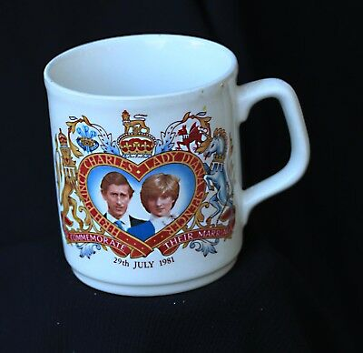 commemorative cup charles and diana 1981
