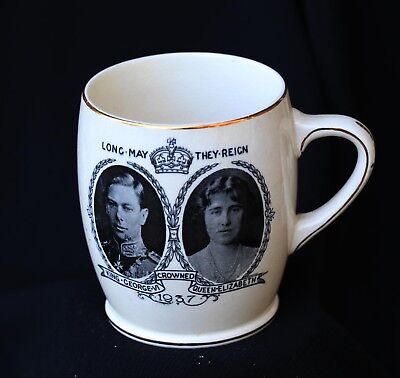 Coronation cup 1937 - george V1 and Queen Elizabeth Booths Ltd
