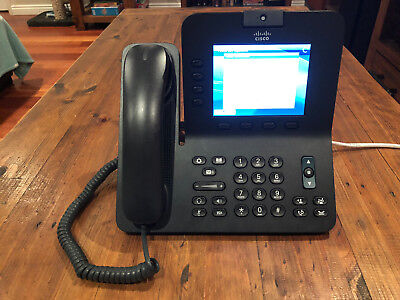 Cisco CP-8945 Unified Gigabit Video VoIP POE Speaker Phone with Camera w/ Stand