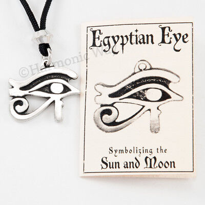 EYE OF RA Necklace Horus Thoth Udjat all-seeing EGYPTIAN Pendant double-sided