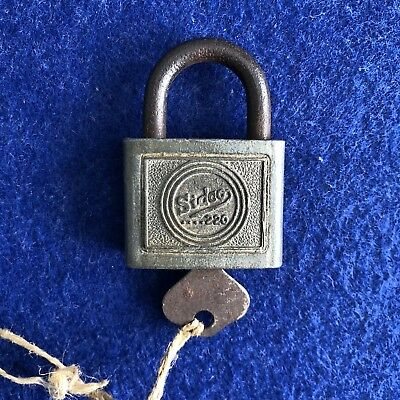Vintage Sidchrome Padlock With Key Made In Australia