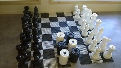 Chess and draughts floor set