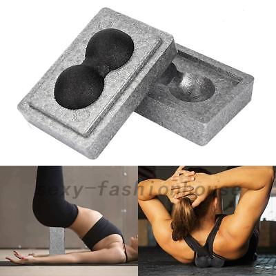 2 in 1 Treasure-Box Yoga Block and Massage Ball Set EPP For Pilates Fitness Gym