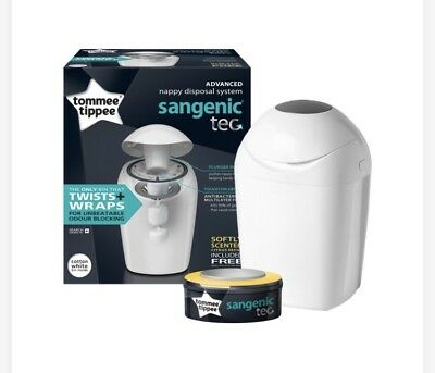 Tommee Tippee Sangenic Hygiene + Baby Nappy Bin Anti-bacterial Disposal System