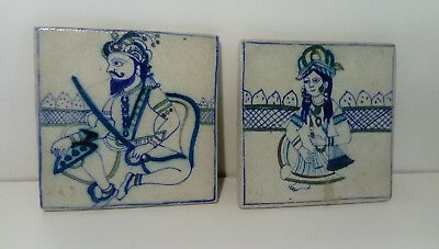 ISLAMIC ASIAN DESIGN TILES IZNIK INSPIRED - hairline cracks and repair
