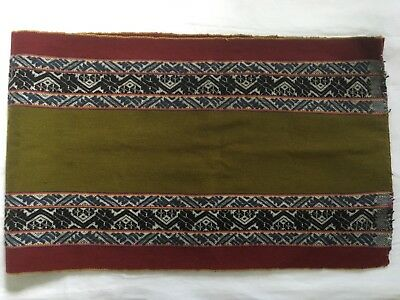 Peruvian Table Runner or Wall Hanging, hand woven from a community near Cuzco