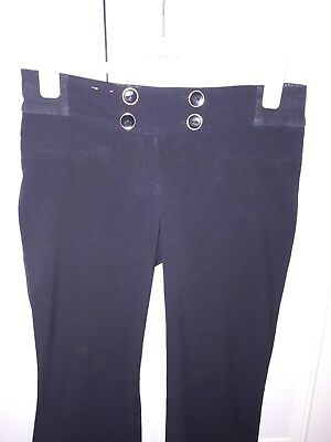 Black Maternity Bootcut Under Bump Trousers From New Look-Size 8
