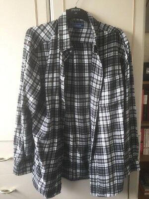 Men's Large Black and White Vintage Shirt - Very Soft, Cosy, Great Condition