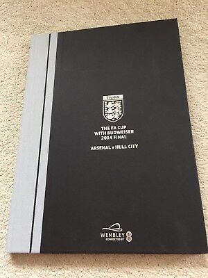 Arsenal vs Hull Limited Edition FA Cup Final 2014 programme WEMBLEY WENGER
