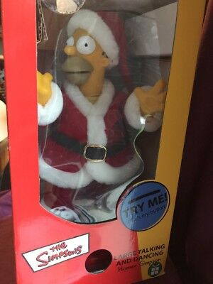 the simpsons large talking and dancing homer simpson father christmas boxed