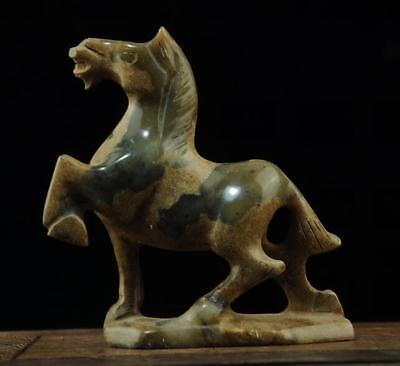 Chinese natural jade hand-carved horse statue 4 c01
