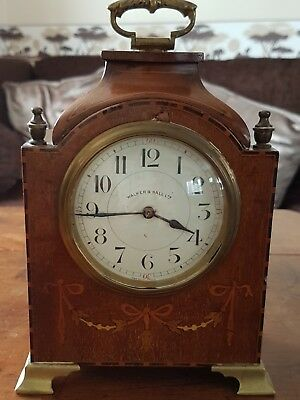 Used Edwardian Mahogany Cased Bracket / Mantel / Carriage Clock c.1905