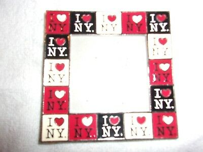 I LOVE NY (New York) METAL PICTURE FRAME Approx. 4 X 4