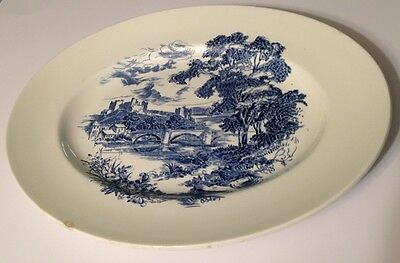 """Countryside Enoch Wedgwood 14"""" Oval Serving Platter Made in England"""