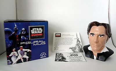 Star Wars Classic Collector Series Han Solo Ceramic Applause Figure Mug Cup New