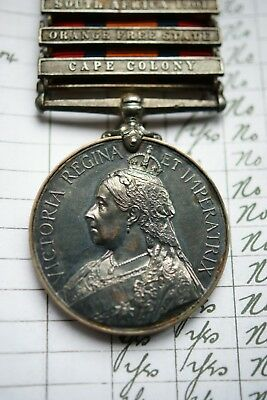 Boer War Queens South Africa Medal 9Th Lancers Died Of Enteric Fever India 1902
