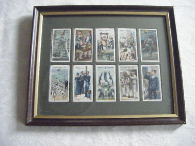 John Player& Sons Cigarette Cards On Board A Man Of War In 1805 And 1905