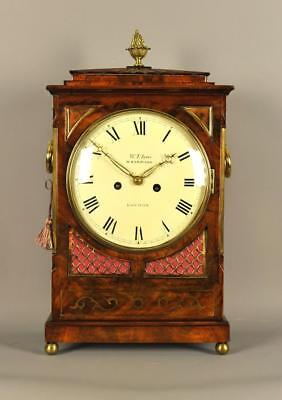 REGENCY MAHOGANY FUSEE BRACKET CLOCK -William Tyas , London