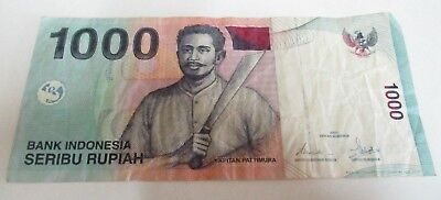 One Thousand Indonesian Rupiah / Indonesia 1000 - Circulated - JZB844967