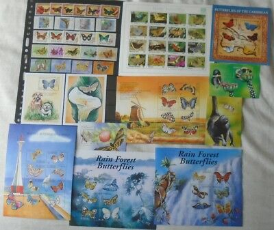 Butterflies collection - St Vincent & Grenadines - 11 sheets and 5 sets - MNH