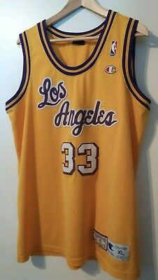 NBA Hardwood Classics Champion Trikot L. A. Lakers Abdul JABBAR #33 XL