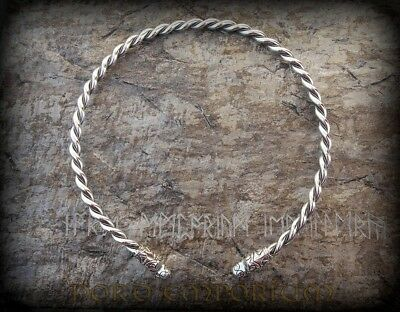 VIKING TORQUES Size XL, Sterling Silver, Viking necklace, Viking Torc