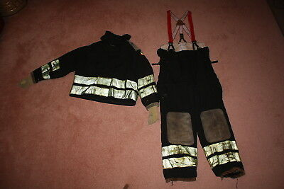 Authentic Firefighter Turnout Gear, Coat and Bunker Pants Set,  XL