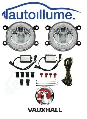 Vauxhall Astra G H Corsa D VXR SRI Zafira Tigra LED DRL Angel Eye Fog Light Kit