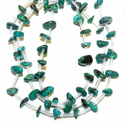 NG2496 Teal Blue-Green Medium 7mm -12mm Chip Turquoise Gemstone Beads 84pc