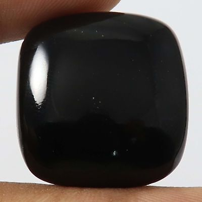 39.85 cts 100% Natural Top Quality Black Onyx Gemstone Cushion Loose Cabochon