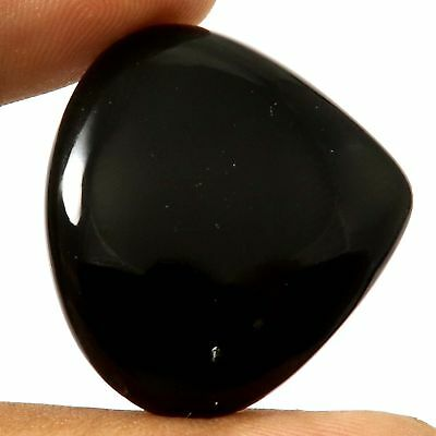 40.45 cts 100% Natural Top Quality Black Onyx Gemstone Heart Loose Cabochon