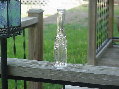 """Nice Clean 8"""" Tall Embossed On Base Cathedral Peppersauce Bottle"""