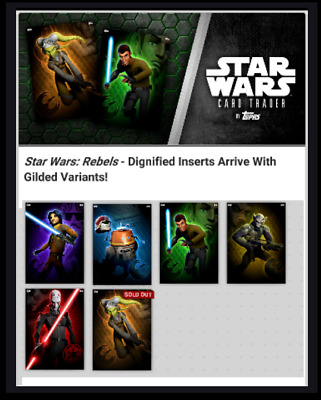 Topps Star Wars Card Trader Rebels Dignified Complete Set [ 6 Cards ]
