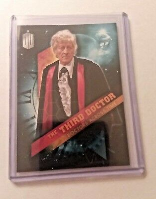 2016 Topps Doctor Who Timeless #3 Doctor Across Time - The Third Doctor