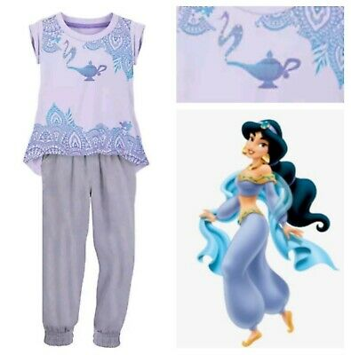 Princess Jasmine holiday Aladdin Genie lamp Top bottom Set outfit 5 6 7 8 9 10