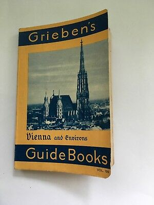 1934 Grieben's Vienna and Environs Travel Guide Book GOOD Condition