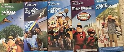 NEW 2018 Walt Disney World Theme Park Guide Maps - 5  Maps 8/18