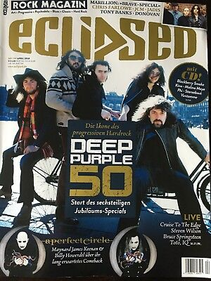 ECLIPSED ROCK MAGAZIN + CD Nr.199 April 2018  Deep Purple  A Perfect Circle