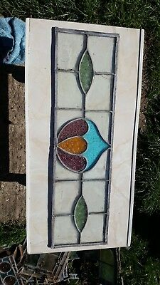Antique 1930s leaded stain glass windows