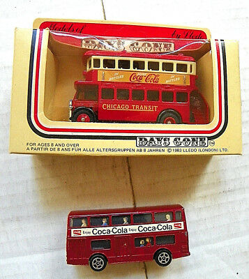 "(Lot Of 2) England ""coca-Cola"" Double Decker Buses"