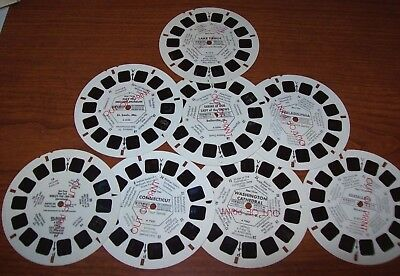"""8 Vintage VIEW-MASTER """"Out of Print"""" Travel Reels - USA topics"""