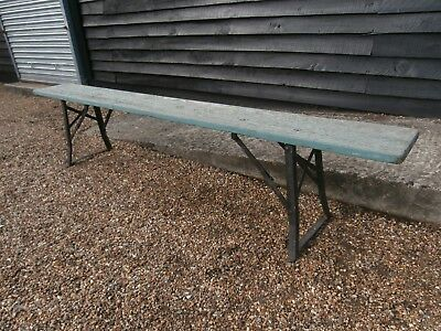 MID 20th CENTURY FOLD UP BIER BEER KELLER BENCH PAINTED AGED - WE CAN DELIVER