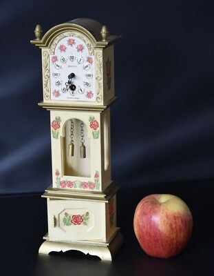Vintage Splendex West German Miniature Grandfather Clock Plastic Classic