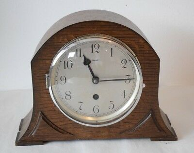 Vintage mantel Clock Davall Working British mantel clock No Key or Pendulum