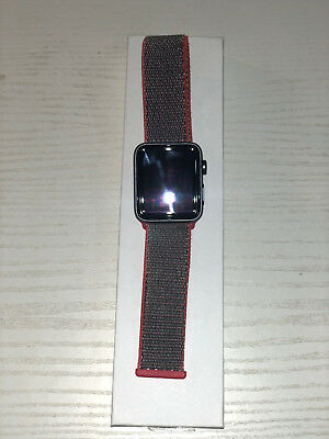 Apple Watch Nylonarmband Bluestein Rot 42 mm